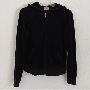 Women's Black Juicy Couture Track Velour Jacket